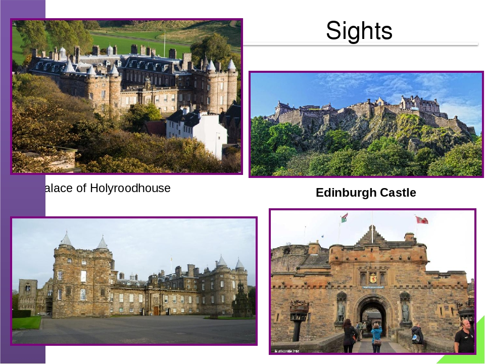 Palace of Holyroodhouse Edinburgh Castle Sights